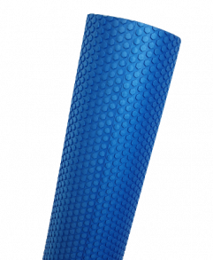 EVA Foam Roller, Blå, Flexible 90 cm, medium blød skumrulle