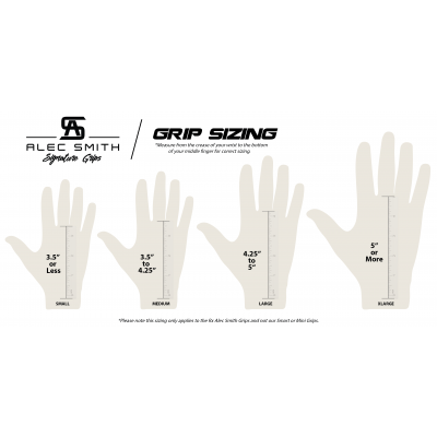 Alec Smith Grips Sizing Chart
