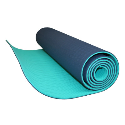 Yoga matte, safe rubber surface, blue, by KettlebellShop™
